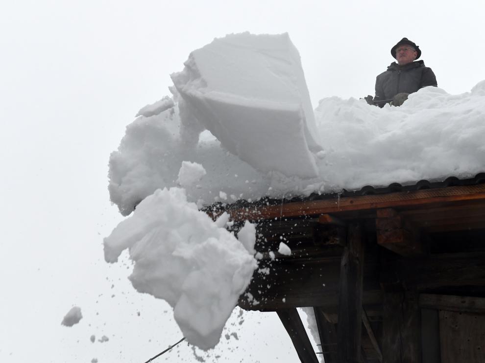 Los Alpes han recibido grandes cantidades de nieve en los últimos días