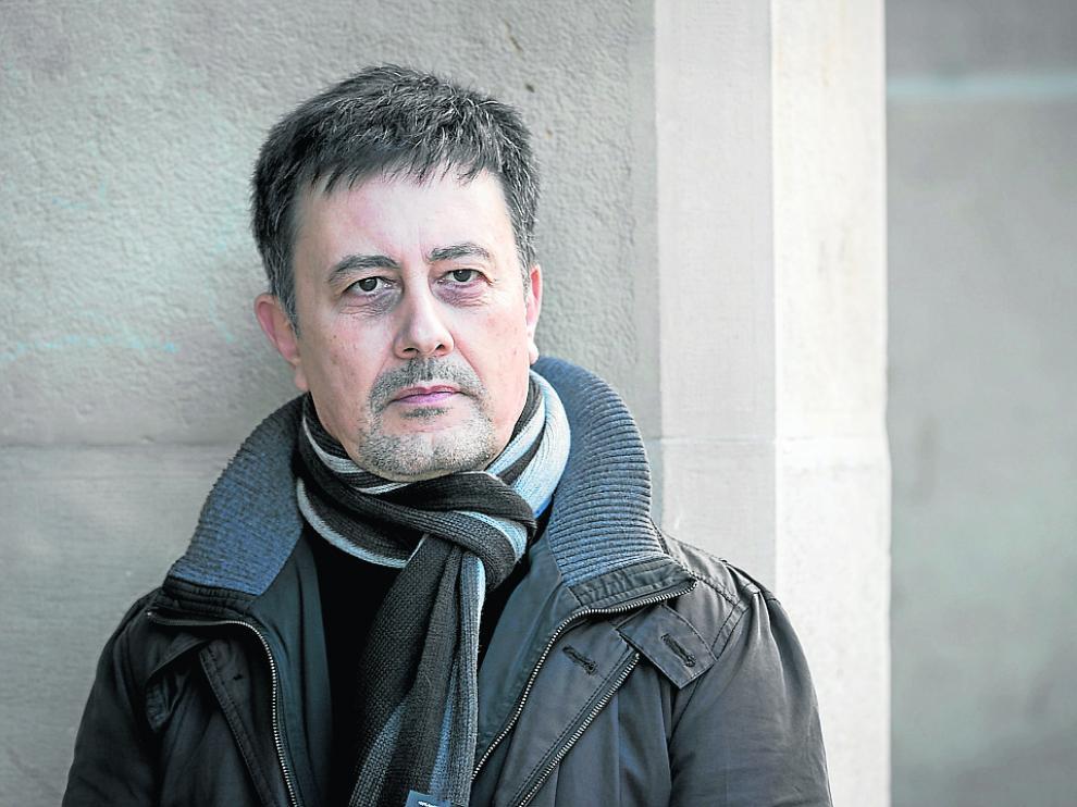 Marcelo Castelo, ayer en Zaragoza antes de impartir su curso en la Cámara de Comercio.