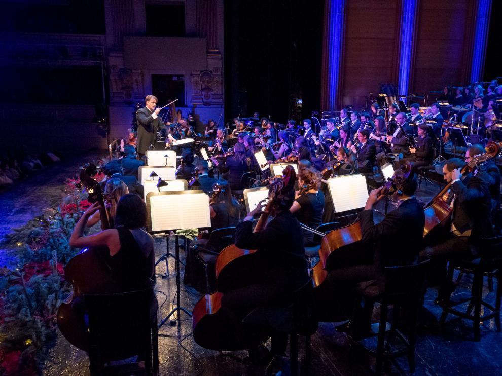 Representación de la Orquesta Clásica Santa Cecilia en el Teatro Real de Madrid.