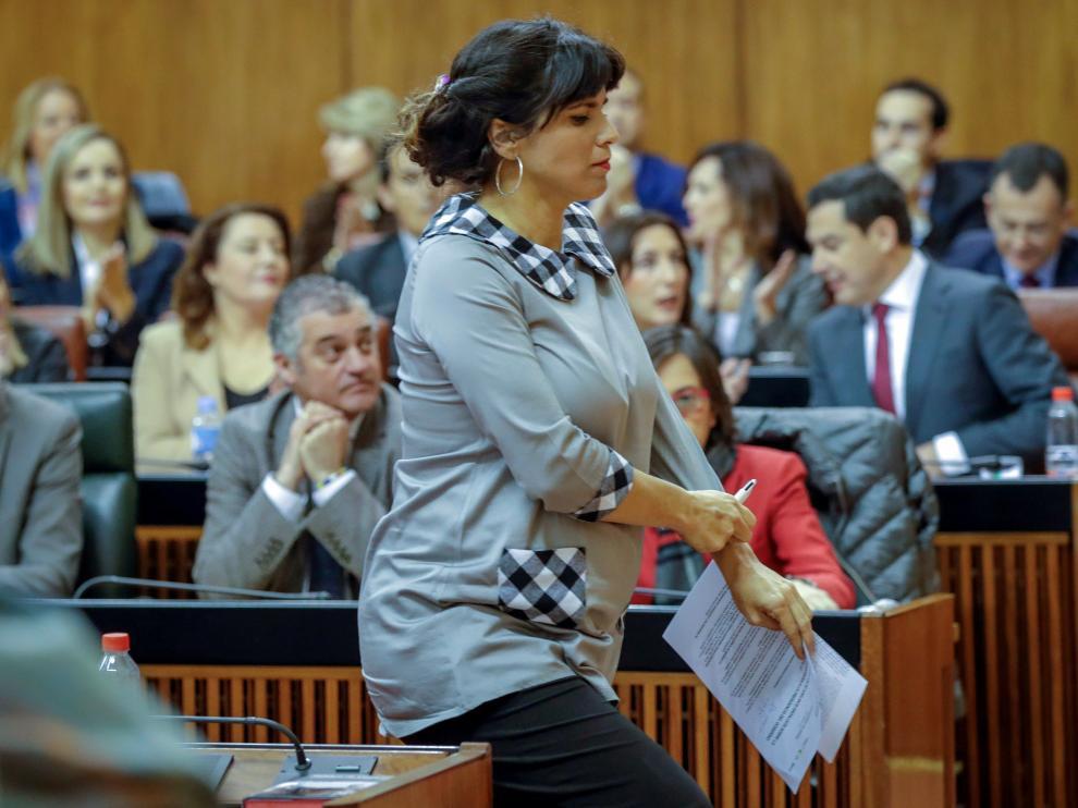 La líder andaluza de Podemos, Teresa Rodríguez