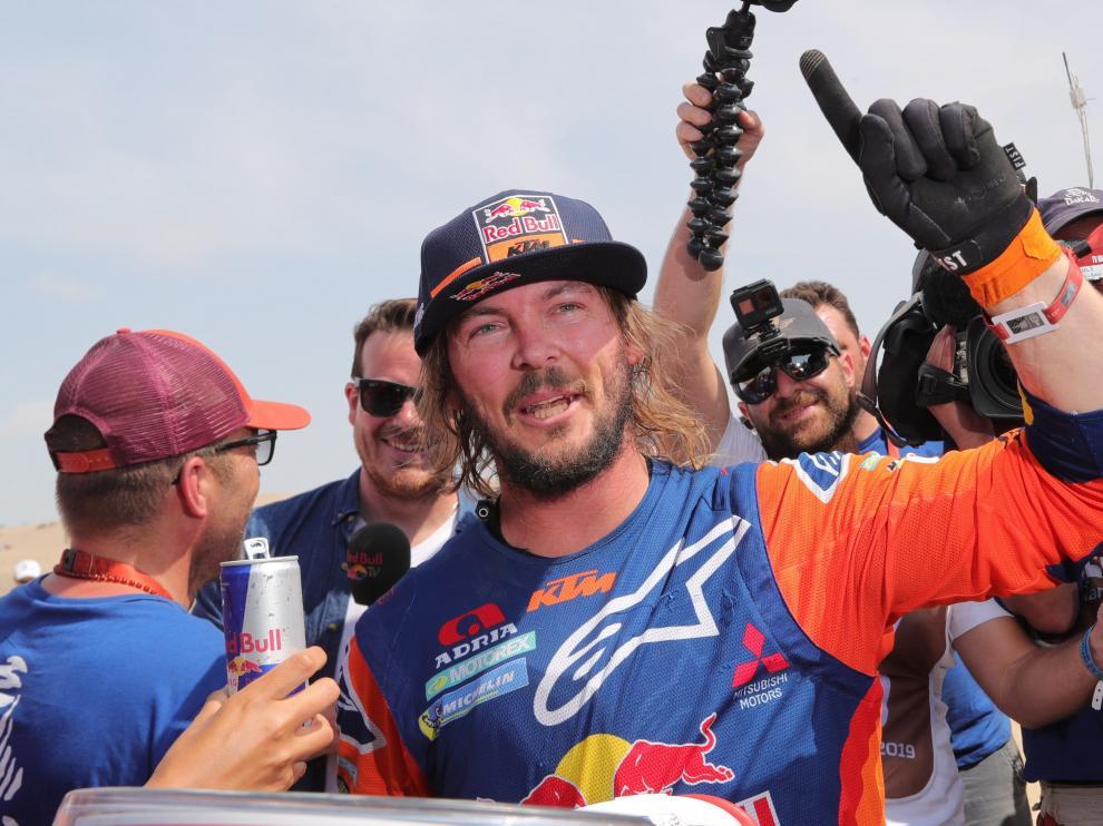 Toby Price se proclamó este jueves campeón del Dakar en motos por segunda vez en su carrera.