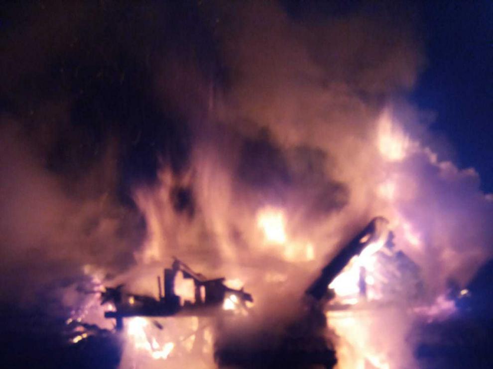 Incendio de una casa en Guasillo