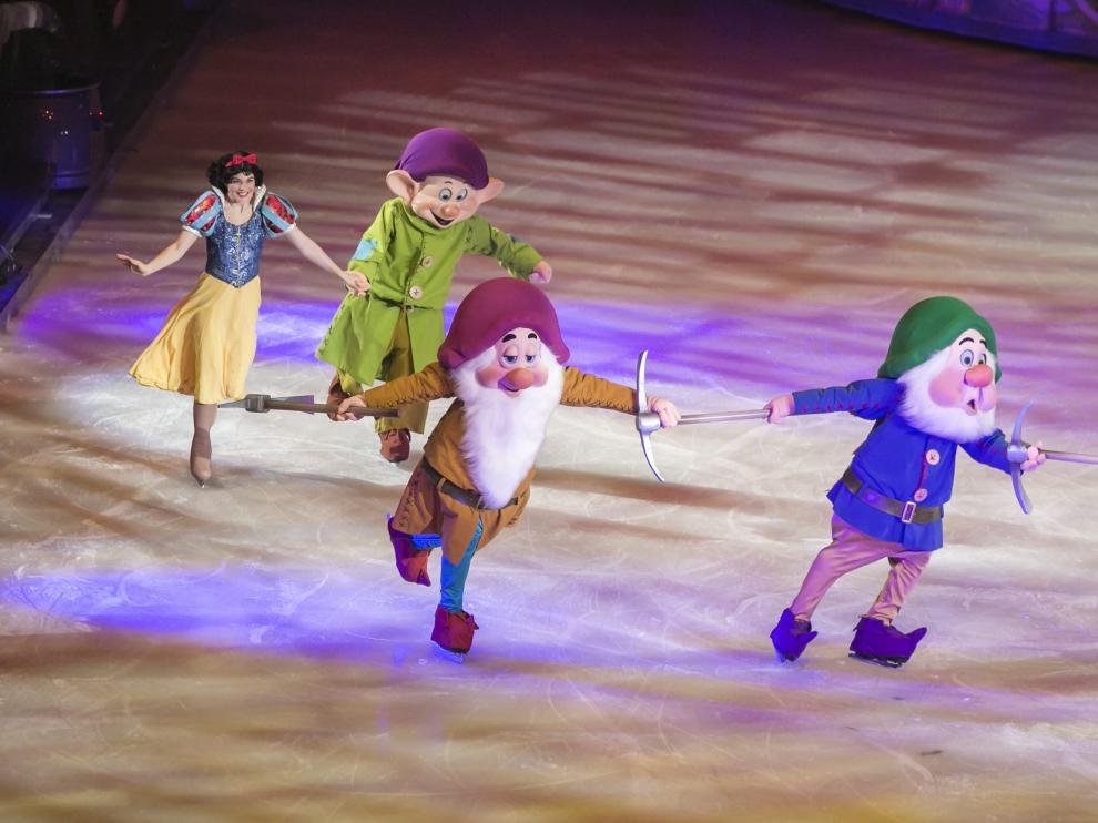 El espectáculo 'Disney On Ice' en el pabellón Príncipe Felipe de Zaragoza en 2014