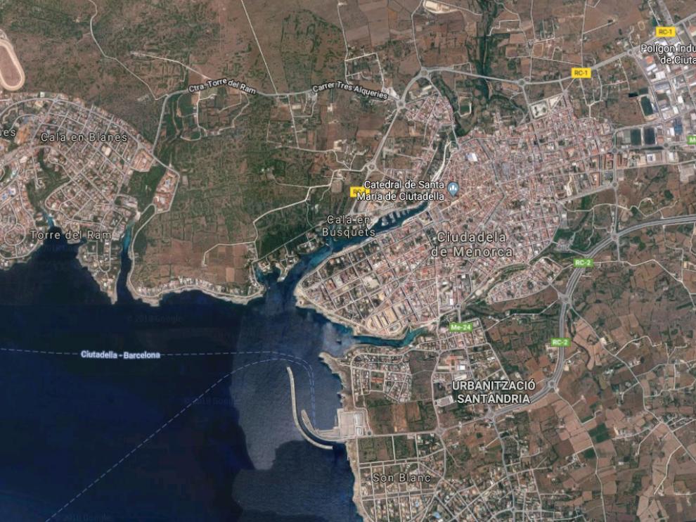 El suceso ha tenido lugar en la localidad de Ciudadela de Menorca.
