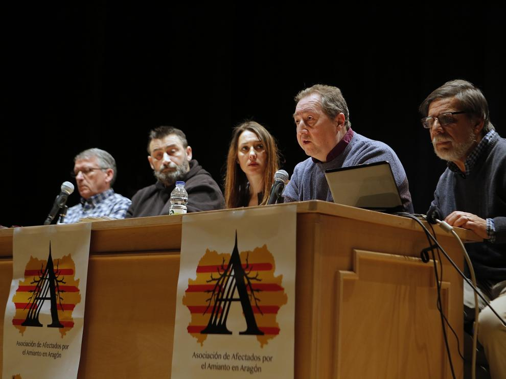 Presentación de la Asociación de Afectados por Amianto en Aragón este sábado en Zaragoza