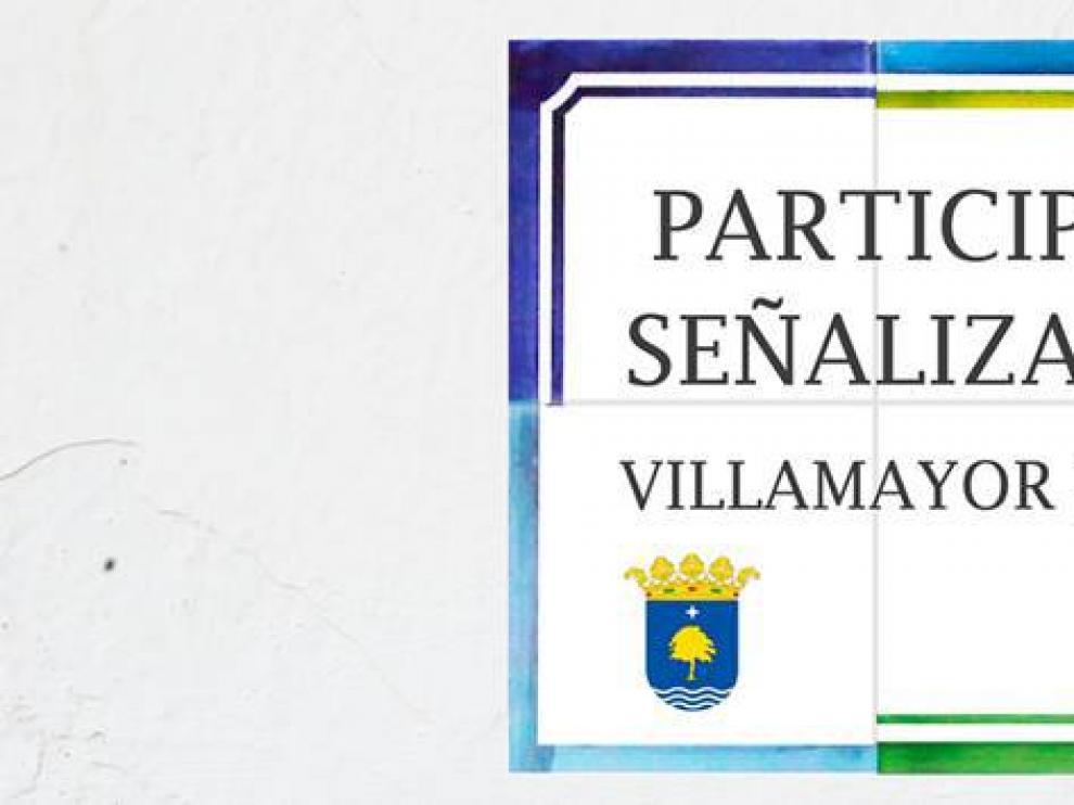 Cartel del proceso participativo iniciado en Villamayor.