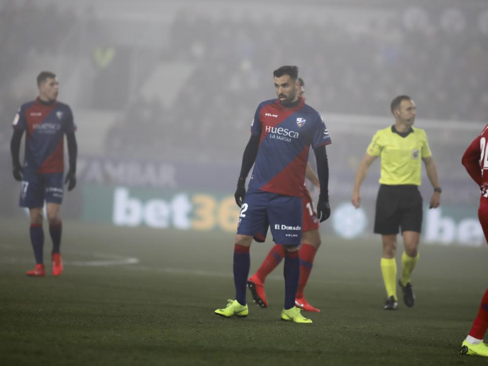 Enric Gallego, en el encuentro contra el Atlético de Madrid.
