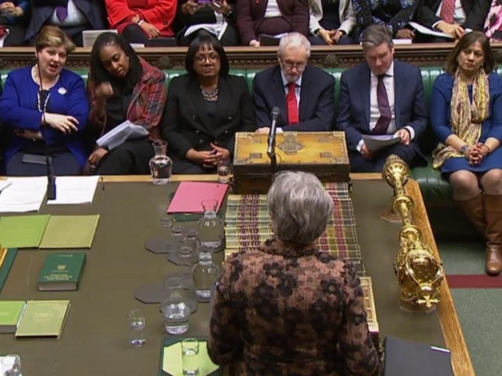 May en la Cámara de los Comunes.