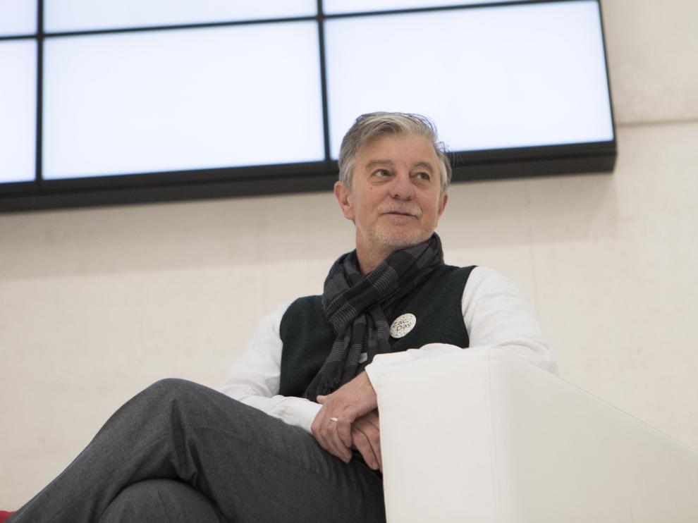 El alcalde de Zaragoza, Pedro Santisteve, en un acto reciente.