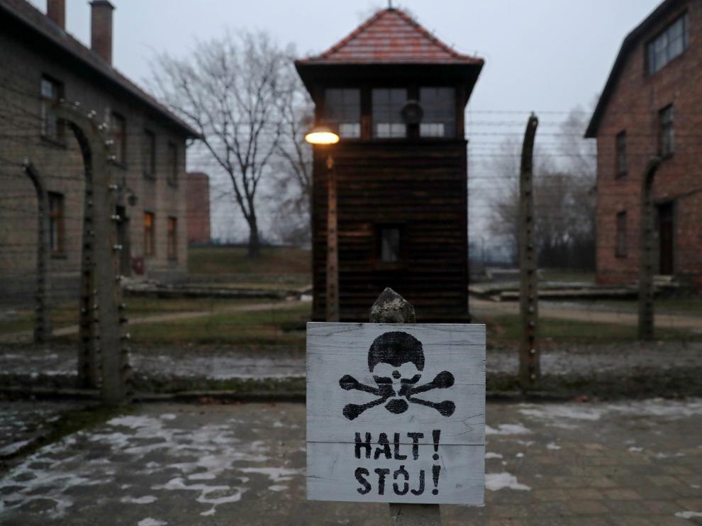 La entrada al campo de concentración de Auschwitz, en Polonia.