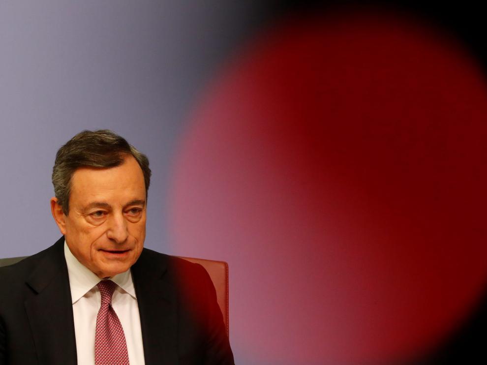 El presidente del BCE, Mario Draghi, en rueda de prensa.