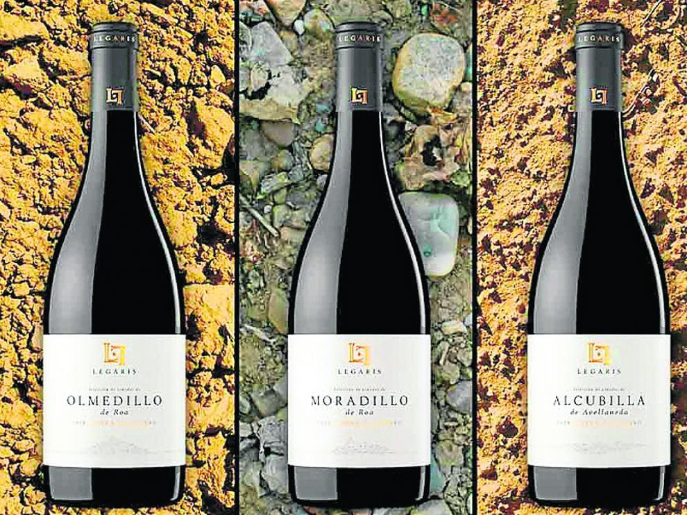 Los tres nuevos vinos 'de pueblo' de la bodega Legaris, de la D.O. Ribera del Duero.