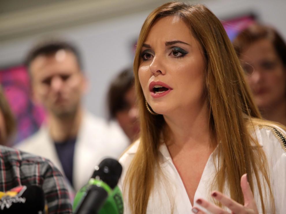Maru Díaz, portavoz de Podemos Aragón y candidata de la formación a la Presidencia del Ejecutivo autonómico