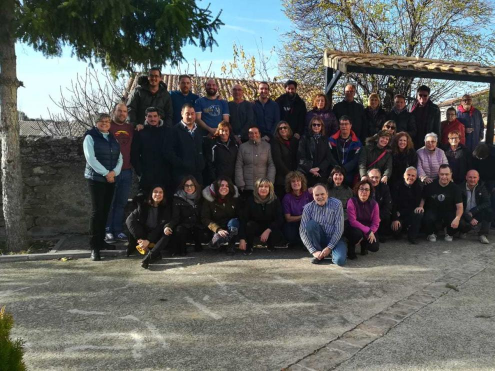 El comité de hermanamiento de Saint Brice de Courcelles, en su visita a Urriés el pasado diciembre