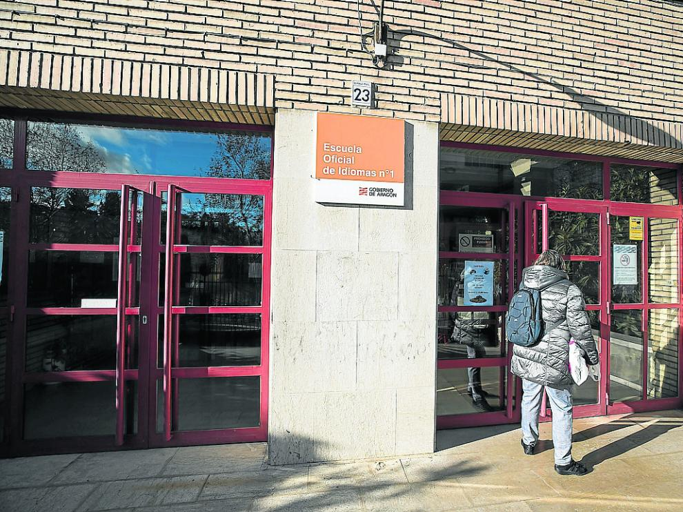 Escuela Oficial de Idiomas de Domingo Miral (Zaragoza), una de las doce que hay en Aragón.