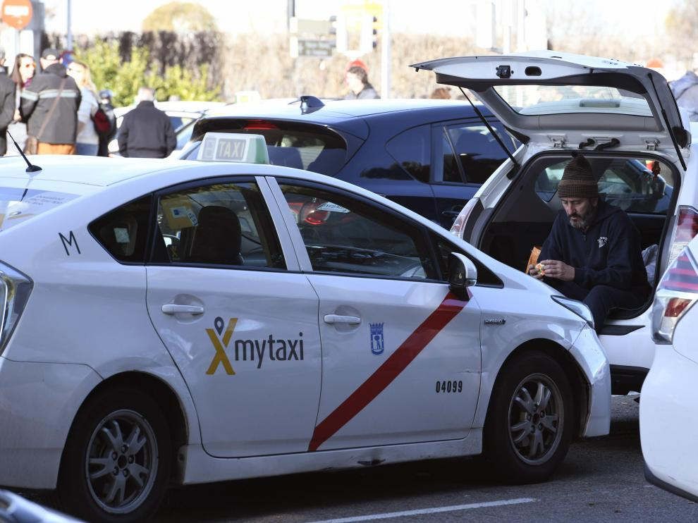Taxistas en huelga este sábado en Madrid