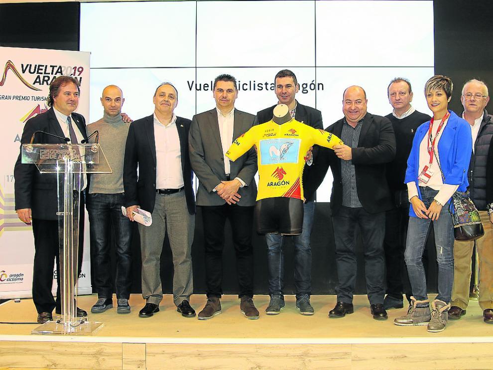 Presentación de la Vuelta a Aragón, que tuvo lugar ayer en Fitur.