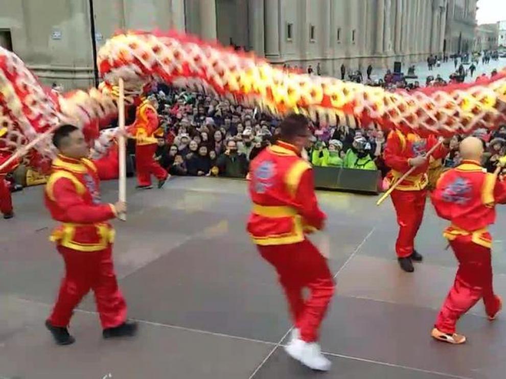 Zaragoza celebra por primera vez el Año Nuevo Chino