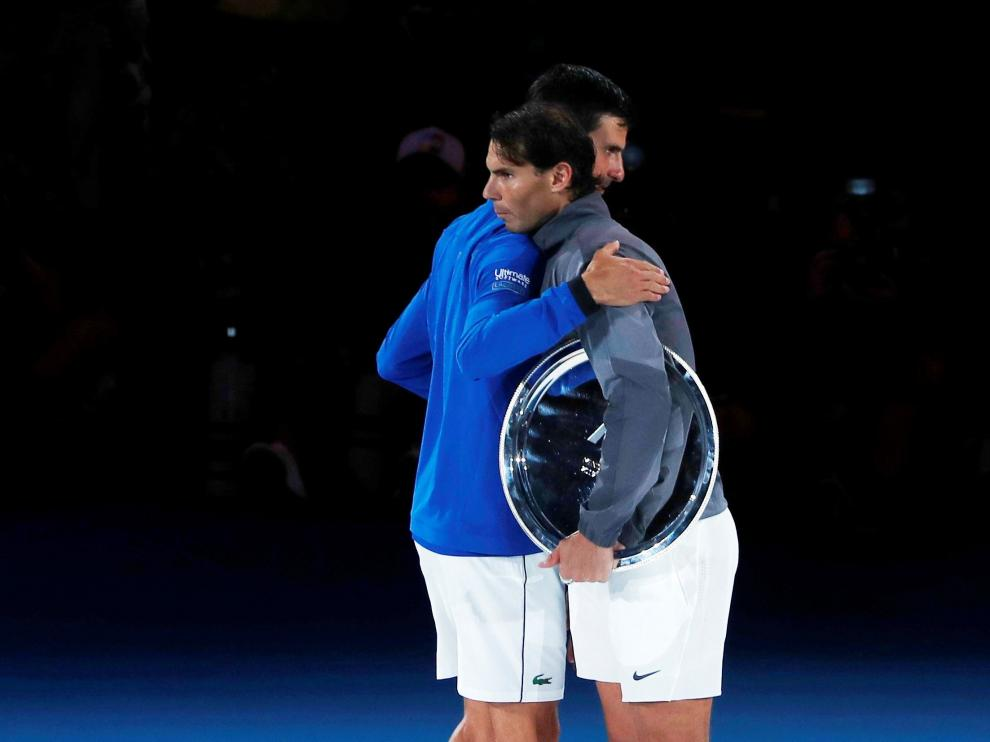 Djokovic y Nadal, tras acabar el partido