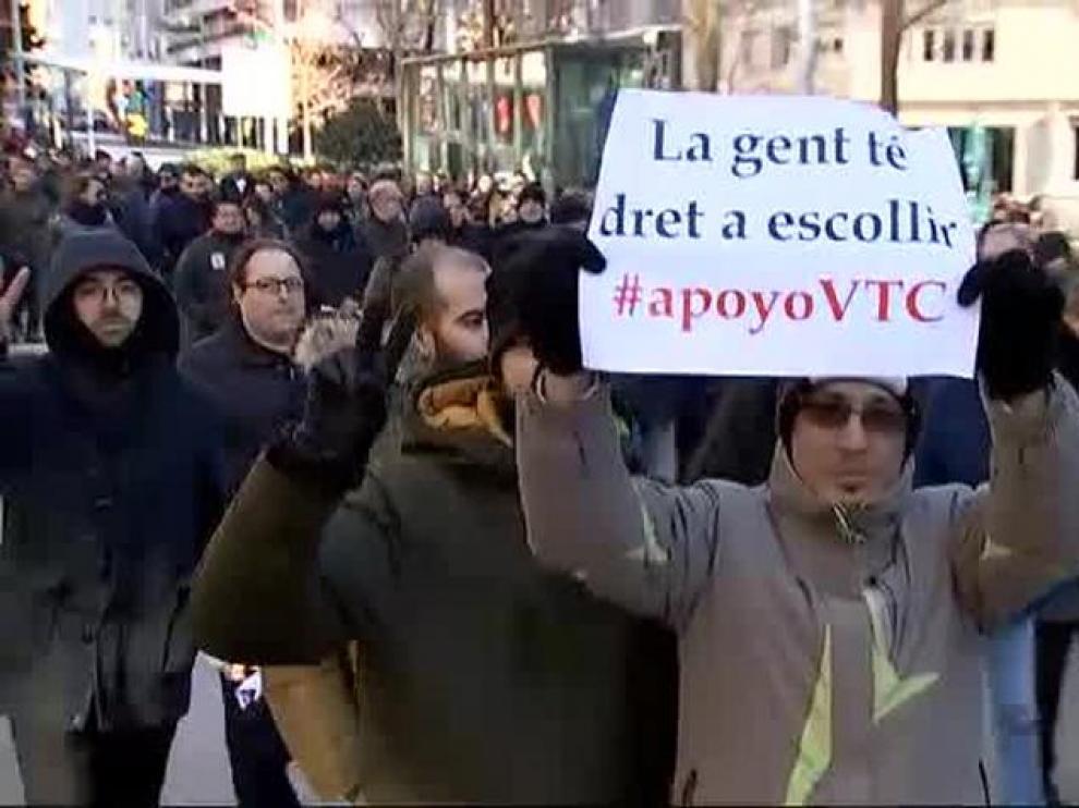 Los VTC de Barcelona siguen en huelga
