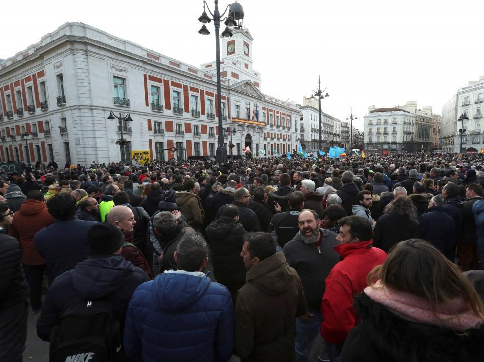 Protestas de taxistas y conductores de VTC
