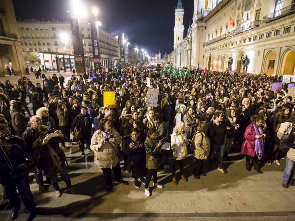 Masiva manifestación del pasado 8 de marzo en Zaragoza