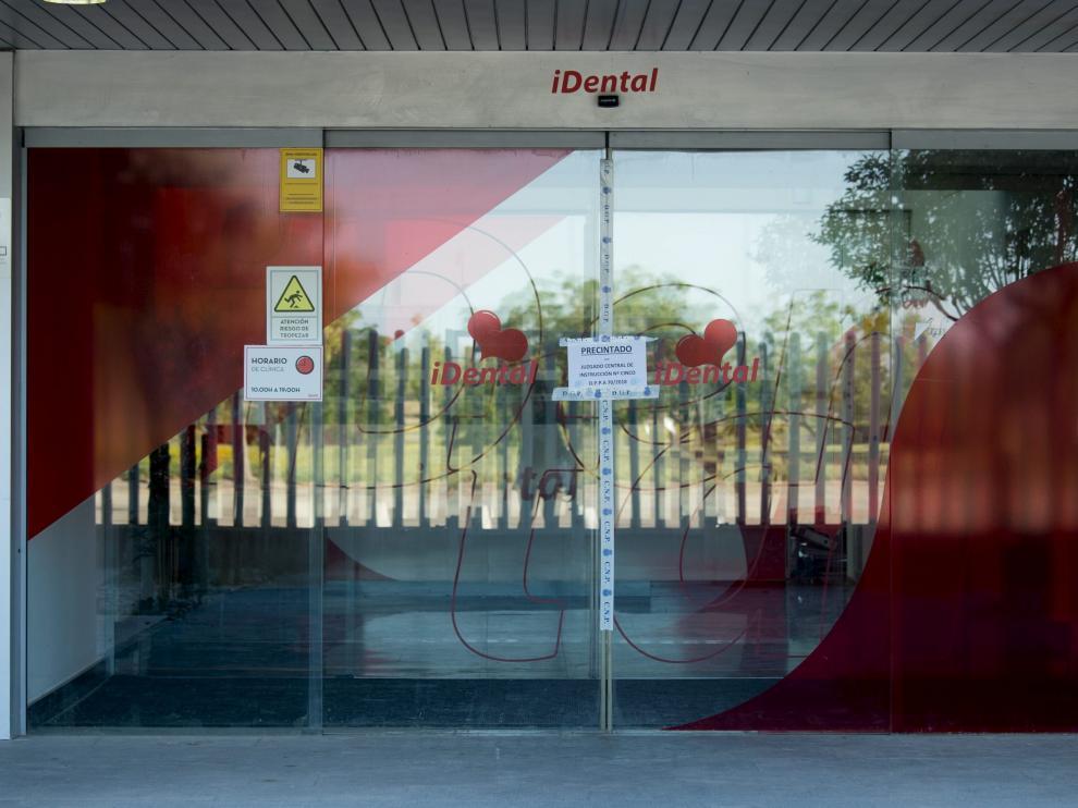 Instalaciones precintadas de iDental en Zaragoza.