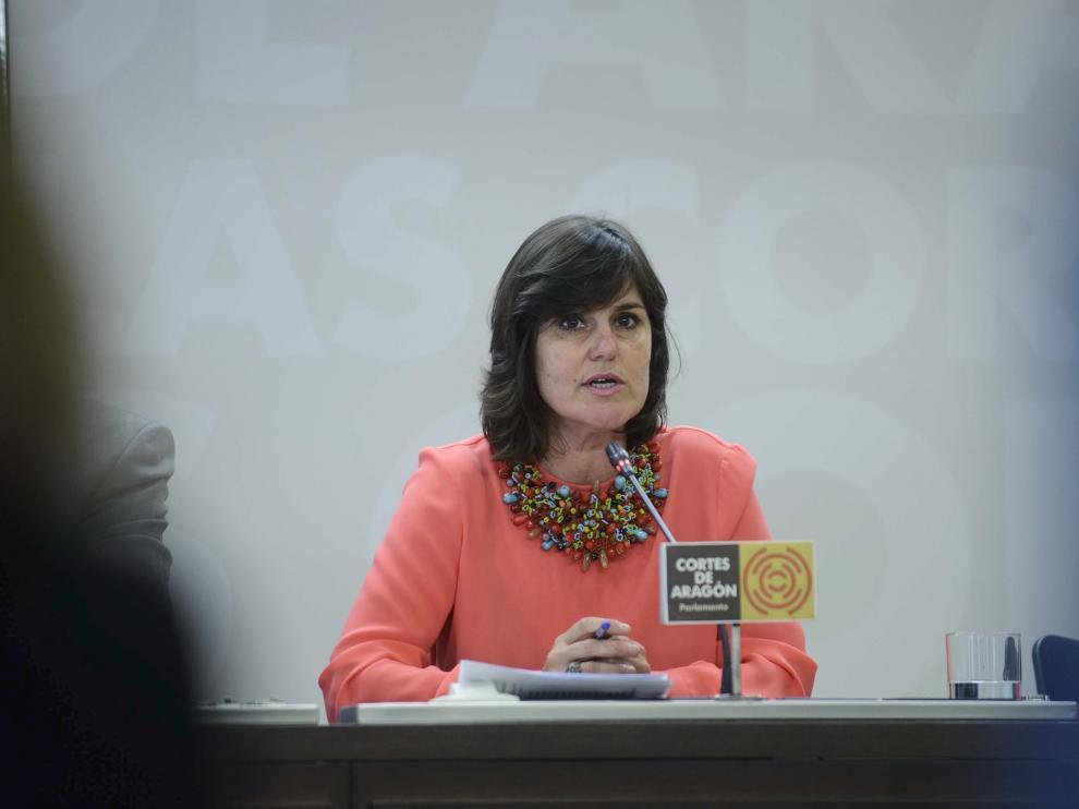La candidata del PAR a la Alcaldía de Zaragoza, Elena Allué, en una imagen de archivo.
