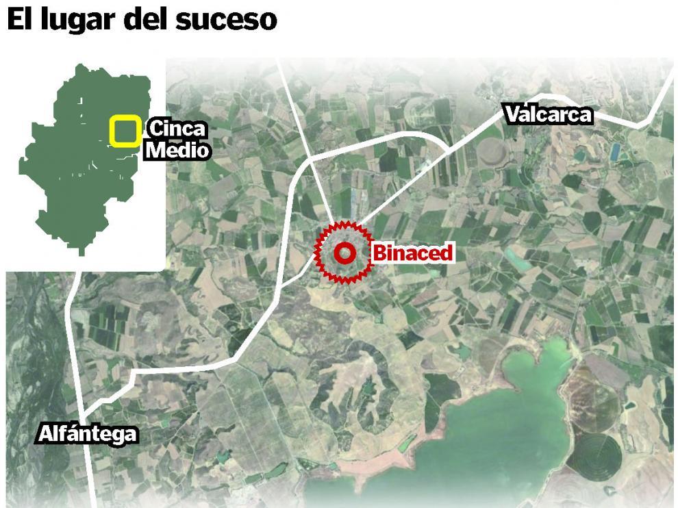 El accidente ocurrió este domingo en una balsa del municipio de Binaced