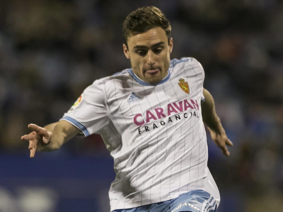 Lasure en el partido contra el Oviedo.