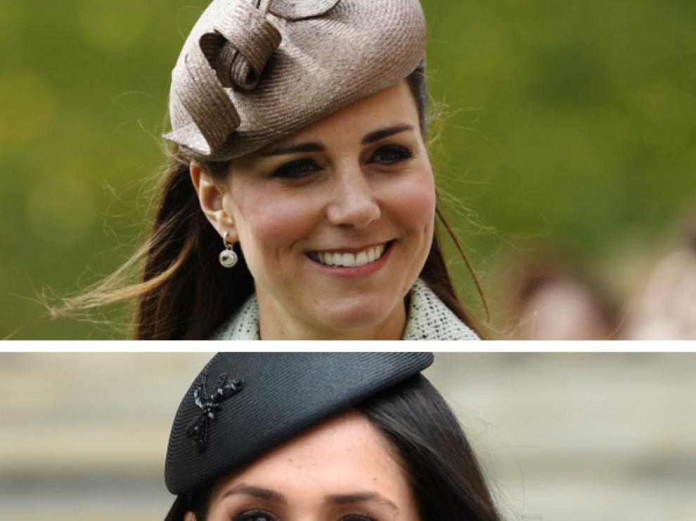 Las duquesas de Cambridge, Catalina, y de Sussex, Meghan.