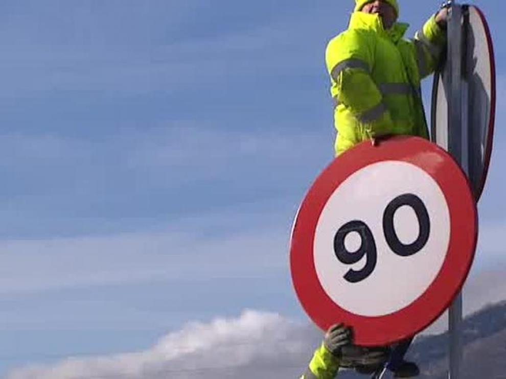 La velocidad en las carreteras secundarias se reduce a 90 Kilómetros por hora