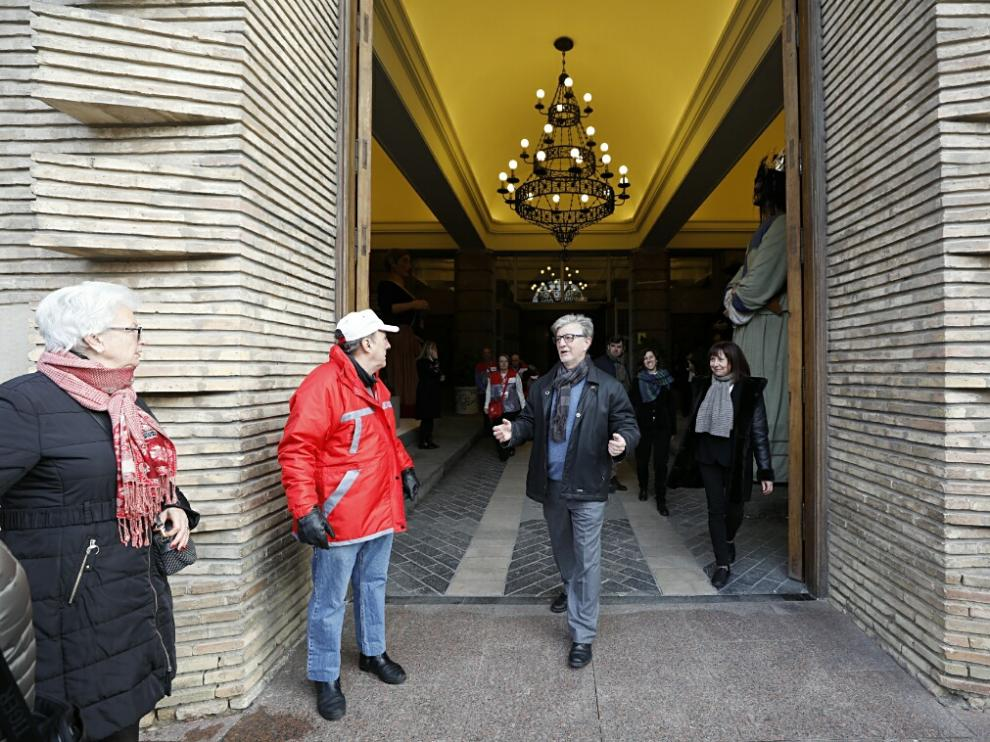 Pedro Santisteve, este martes en la celebración de San Valero en Zaragoza.