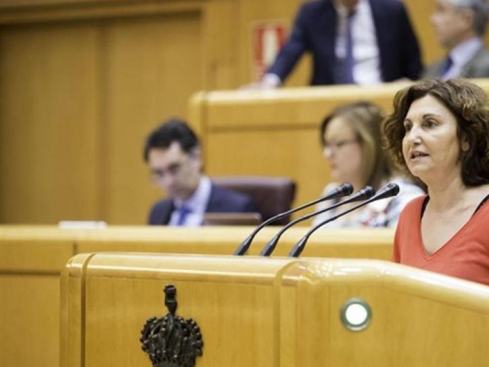 Pilar Garrido, nueva portavoz de Unidos Podemos en el Senado.