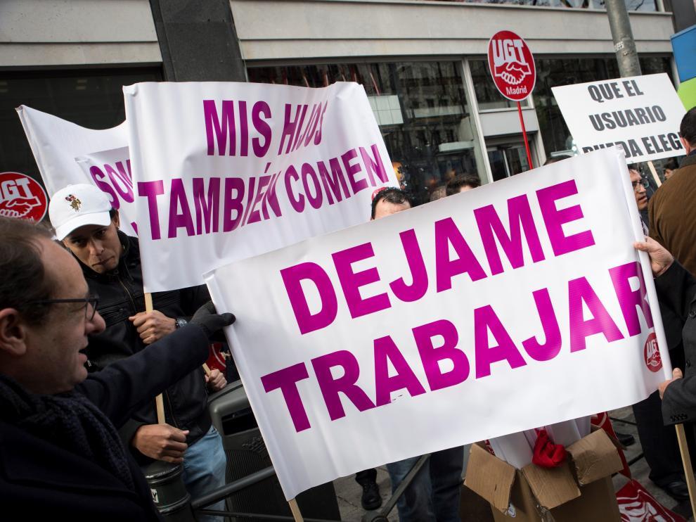 Concentración VTC en Madrid.