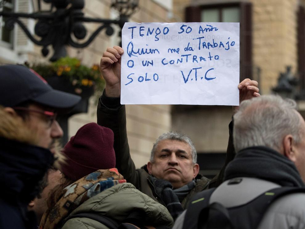 Los conductores VTC se han manifestado contra la medida en Barcelona.