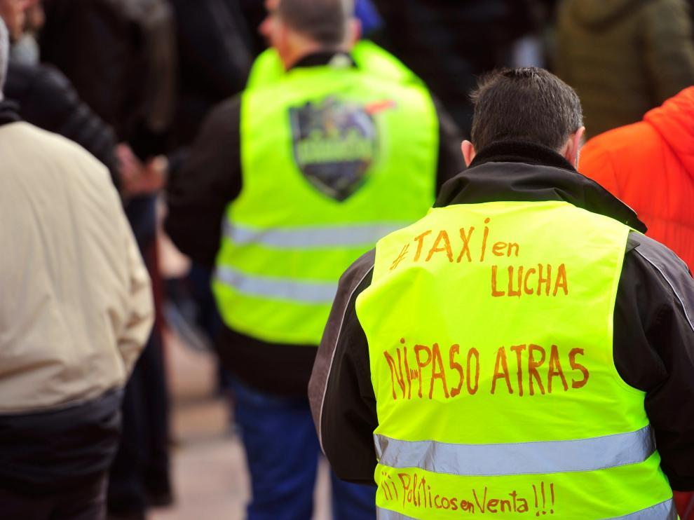 Noveno día de huelga del sector del taxi en Madrid.