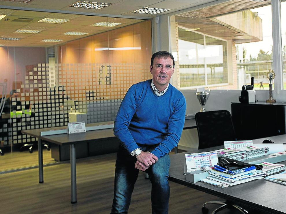 Alberto Belsué, el martes en las oficinas de la Ciudad Deportiva del Real Zaragoza.