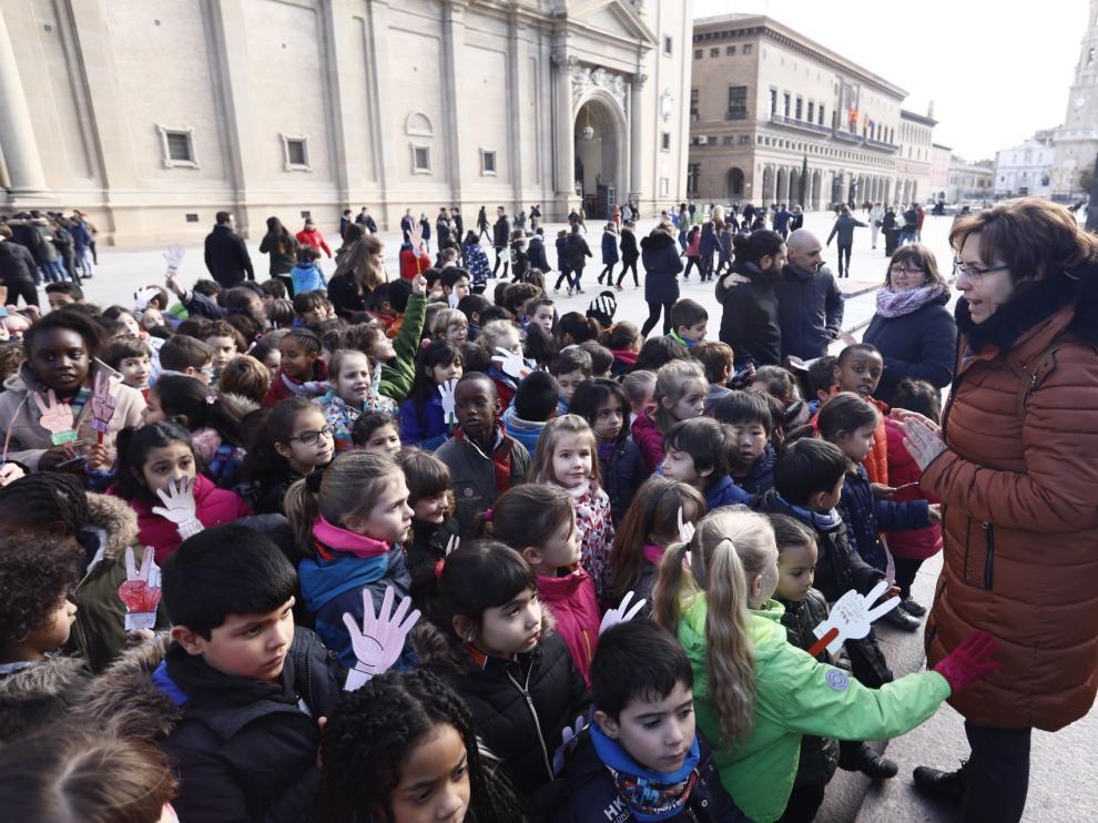 El colegio Escuelas Pías ha celebrado este miércoles el Día Mundial Escolar por la Paz y la No Violencia