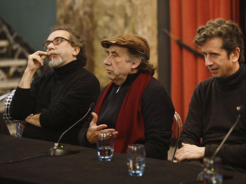 Presentación en el Teatro Principal de Zaragoza del último montaje de La Zaranda, con Gabino Diego.
