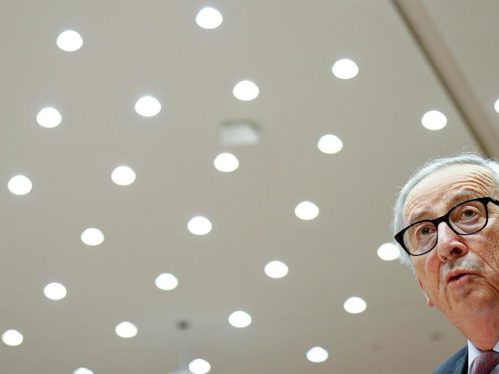 El presidente de la Comisión Europea, Jean.Claude Juncker, este miércoles.