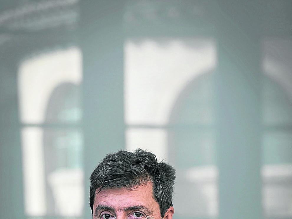 Vicente Pinilla, este martes en el Paraninfo de la Universidad.