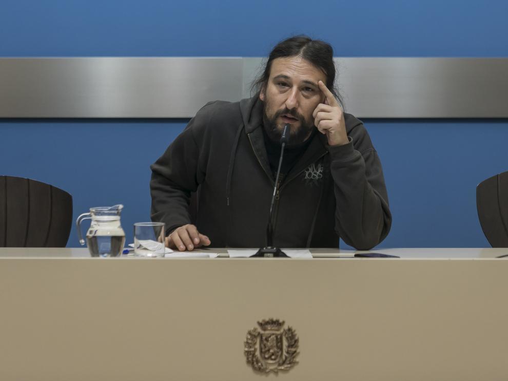 El concejal de ZeC, Pablo Híjar, en imagen de archivo.