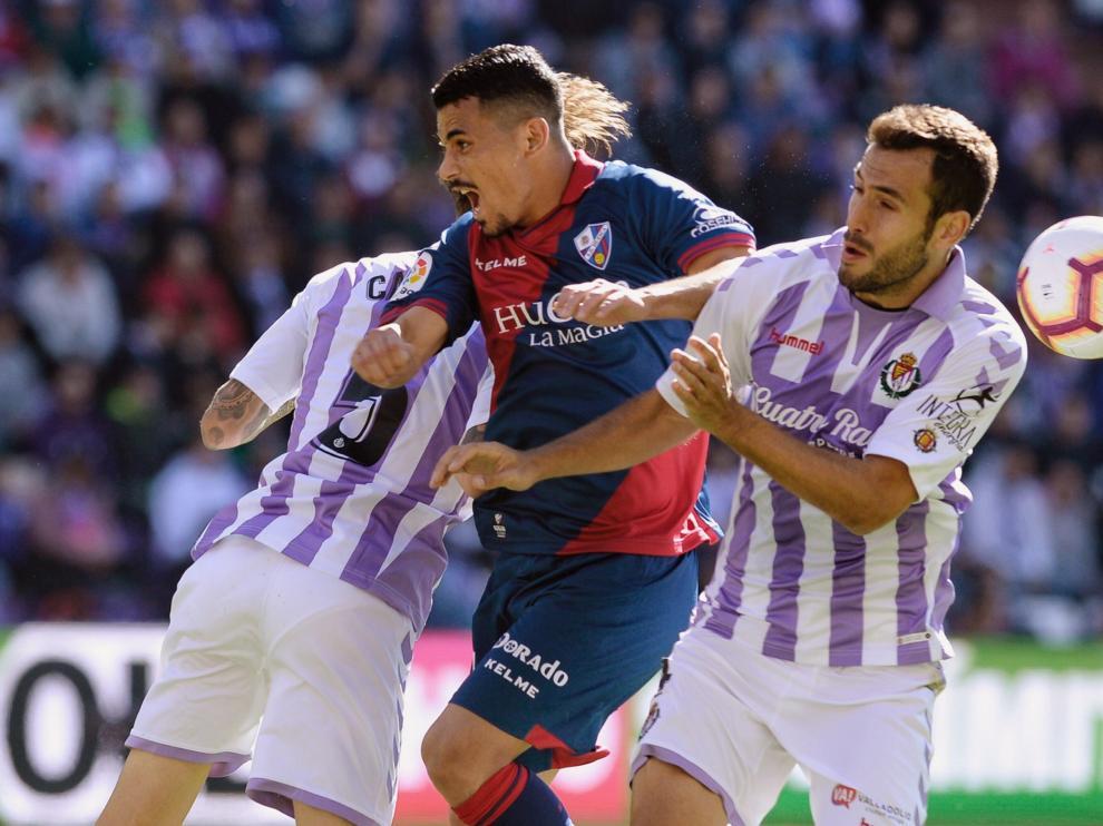 El Valladolid se impuso a la SD Huesca por 1-0 en el choque de la primera vuelta.