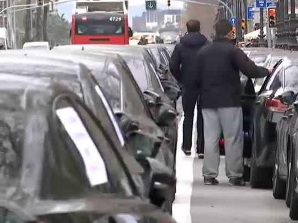 Movilización de conductores con licencia VTC en Barcelona.