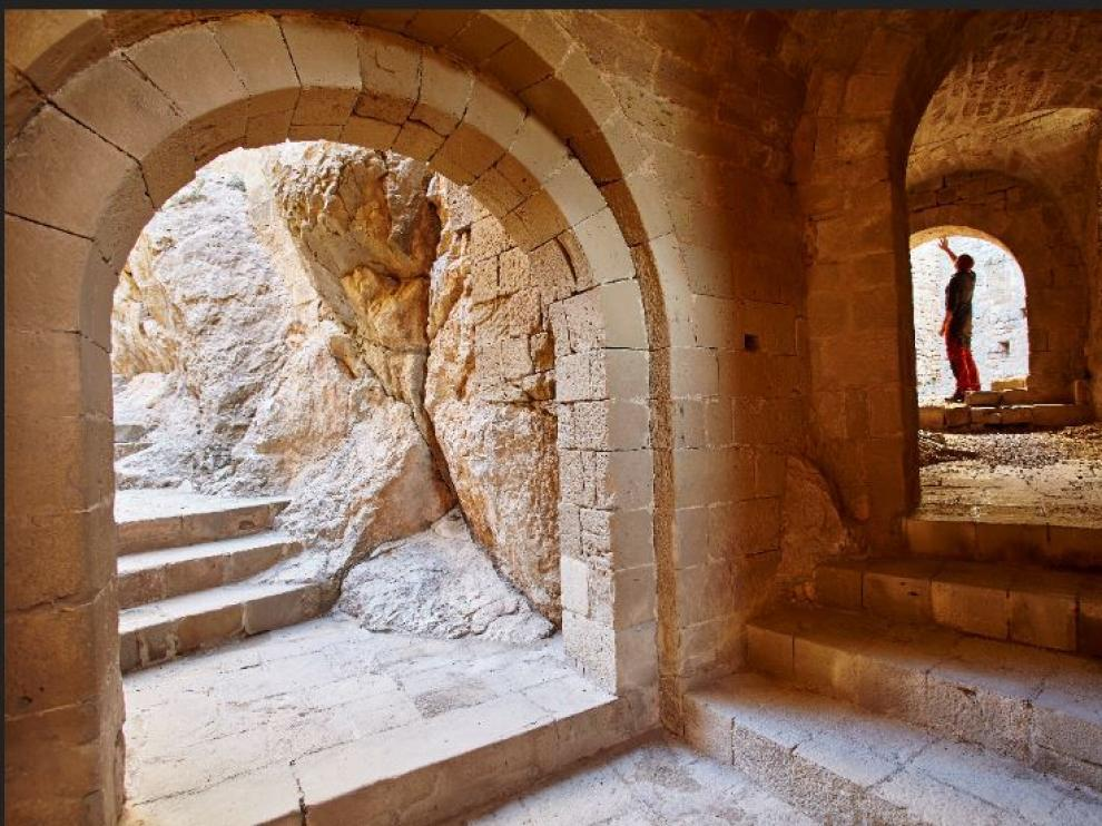 El castillo de Loarre es uno de los enclaves que cuentan con escondites en este juego de 'geocaching'.