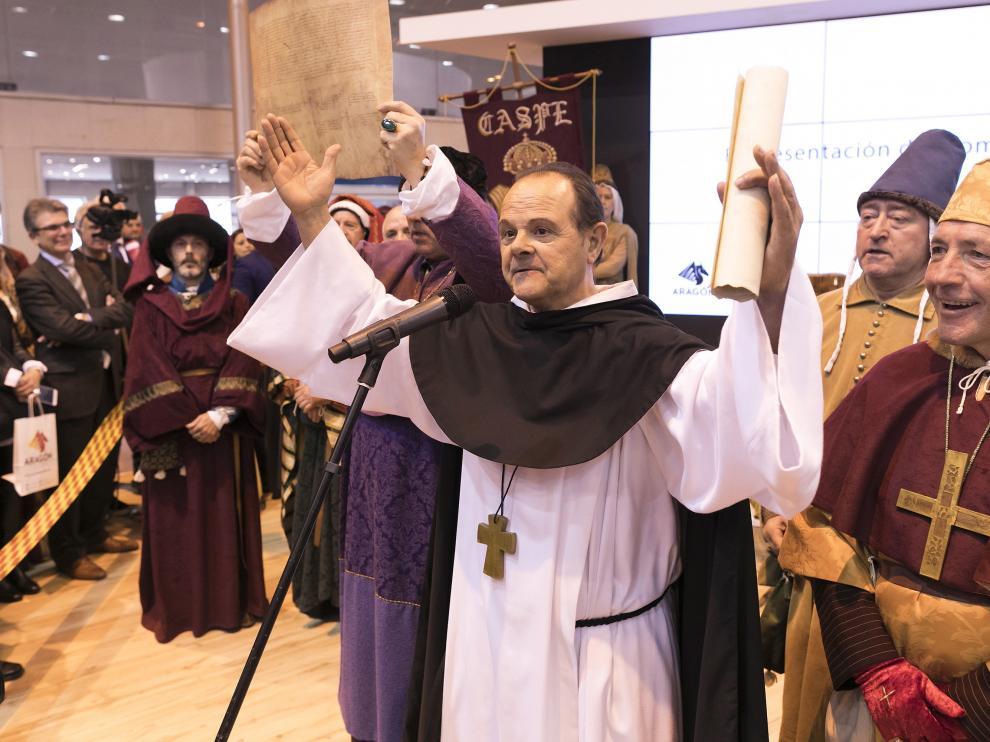 Representación en el estand de Aragón en el reciente certamen de Fitur, celebrado en Madrid.