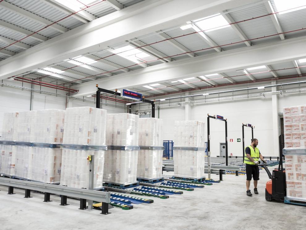 Instalaciones del nuevo almacén automático de Industrias Cartarie Tronchetti Ibérica en la planta de El Burgo de Ebro