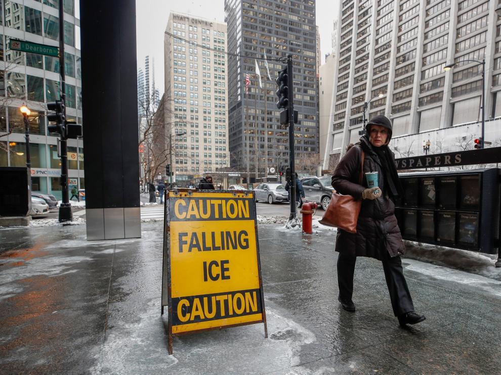 Ola de frío polar en Chicago.