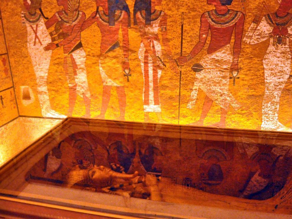 Vista del interior de la tumba de Tutankamón.